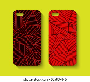 Phone case design. Abstract geometric background. Vector illustration.