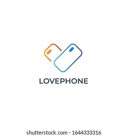 Phone cases logo vector. Cases and accessories for mobile phones logo and icon template