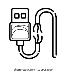 Phone charging broken icon