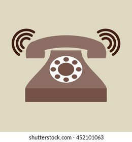 phone classic ring isolated, vector illustration eps10