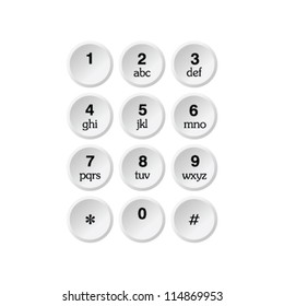phone dialer vector illustration on a white background