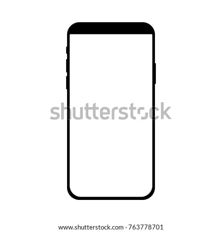 Phone Frame Concept Modern Mobile Phone Stock Vector (Royalty Free ...