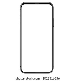 phone front side vector drawing eps10 format isolated on white background