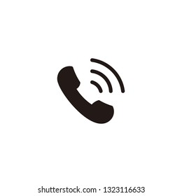 phone golden ratio flat icon, black glyph, vector, eps 10. Perfect for web and mobile
