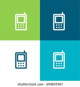Phone green and blue material color minimal icon or logo design