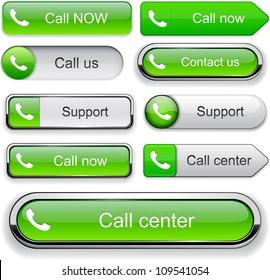 Phone green design elements for website or app. Vector eps10.