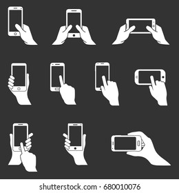phone in hand icons