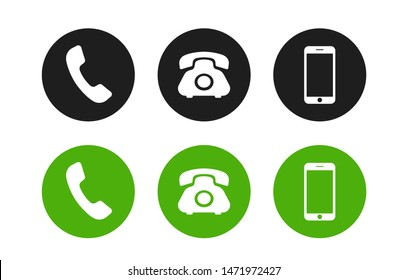Phone icon. Call icon vector. Telephone icon vector isolated on white background.
