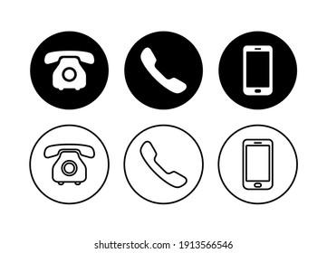Phone icon set, Contact us symbol, Communication icon vector illustration.