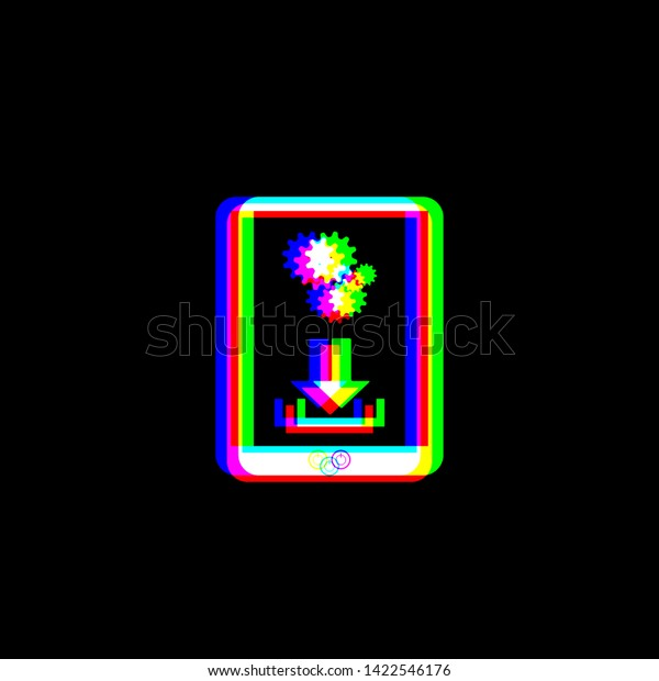 Phone Icon Settings Symbol Red Green Stock Vector Royalty Free 1422546176