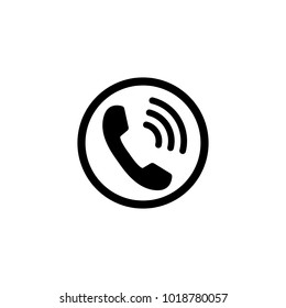 Phone icon, sign. Handset. Vector illustration
