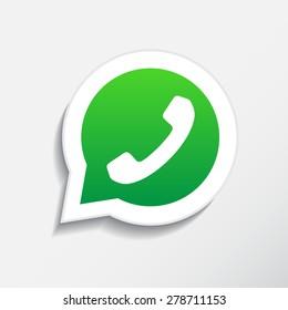 Phone icon in speech bubble