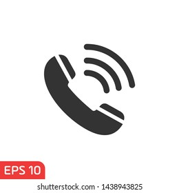 Phone icon symbol template black color editable. Simple logo vector illustration for graphic and web design.