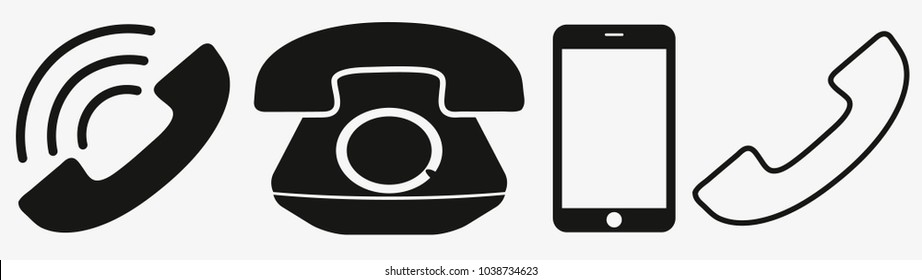Phone icon in trendy flat style isolated on white background. Telephone symbol. Vector illustration