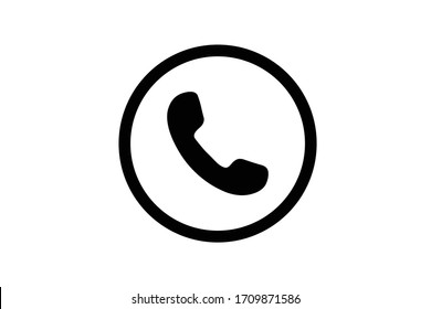 Phone icon in trendy flat style isolated on white background. Telephone symbol. Vector illustration.