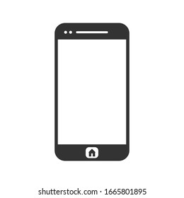 Phone icon vector with blank screen. isolated on white background