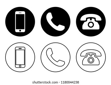 Icone Telephone Images, Stock Photos & Vectors | Shutterstock