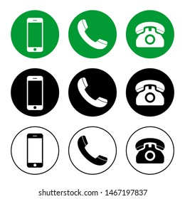 Phone icon vector. Call icon vector. mobile phone smartphone device gadget. telephone icon. Contact