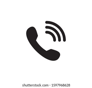 Phone icon vector. Call, telephone icon symbol on white background