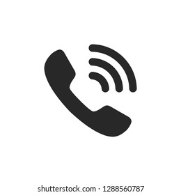 Phone icon vector. Phone glyph icon illustration