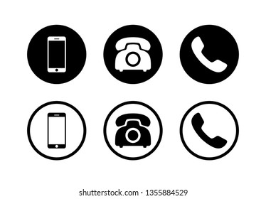 Phone icon vector. Phone glyph set icon illustration