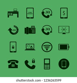 phone icon. phone vector icons set mobile phone, mobile security, call center and home phone