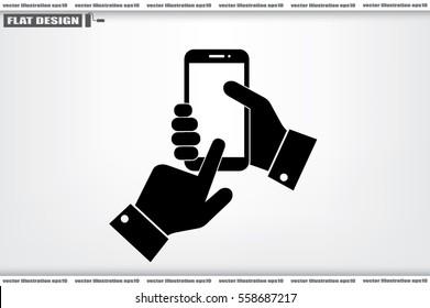 Phone icon vector illustration.
