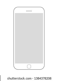 Phone icon. Vector illustration. Flat design.