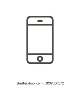 Phone icon vector. Line smartphone symbol. Trendy flat telephone outline ui sign design. Thin linear smartphone graphic pictogram for web site, mobile application. Logo illustration. Eps10.
