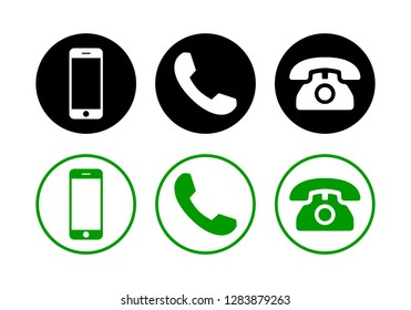 Phone icon vector set. Call icon vector. mobile phone smartphone device gadget. telephone icon