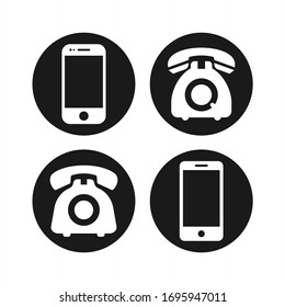 Phone icon vector. Telephone and smartphone icon symbol pack