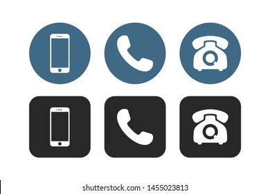 Phone icon vector. Telephone symbol set isolated on white background