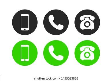 Phone icon vector. Telephone symbol set isolated on white background