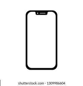 Phone icon vector.black silhouette.Call icon vector.mobile smartphone device gadget.telephone icon isolated on white