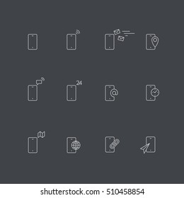 Phone icons on gray background