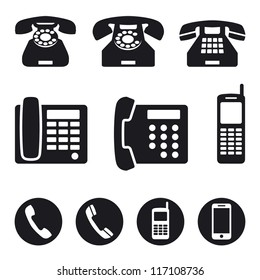 Phone icons, vector illustration