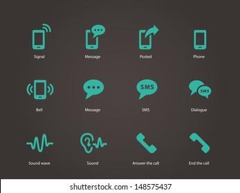 Phone icons. Vector illustration.
