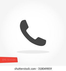 Phone Isolated Flat Web Mobile Icon / Vector / Sign / Symbol / Button / Element / Silhouette