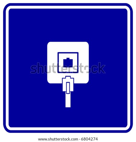 Phone Jack Sign Stock Vector Royalty Free 6804274 Shutterstock