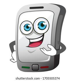 Phone mascot cartoon in vector