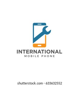 phone mobile repair logo icon vector template