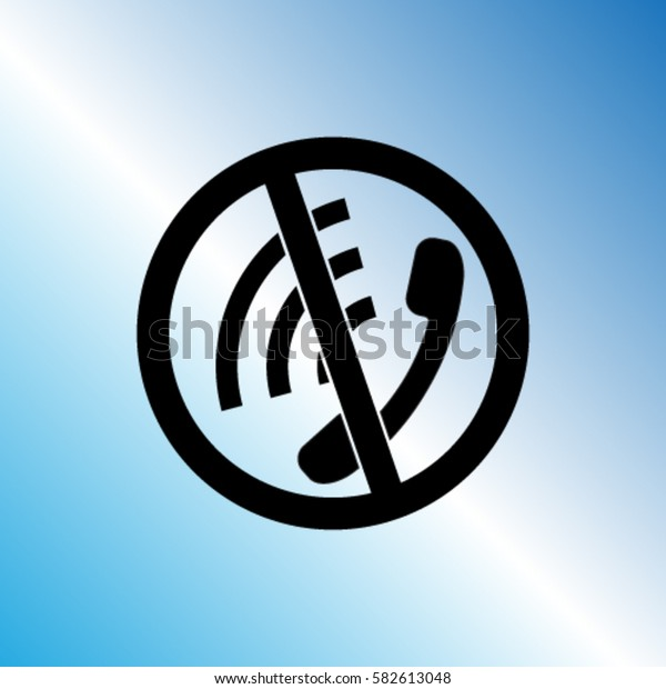 Phone prohibition sign vector icon