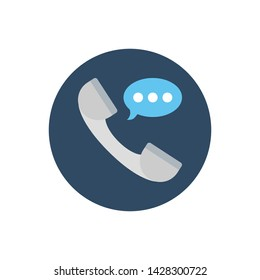 Phone Receiver Vector illustration Flat style icon.