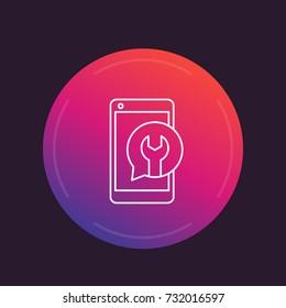phone repair linear icon