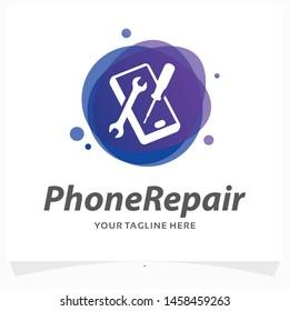 Phone Repair Logo Design Template