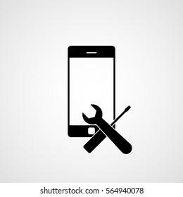 Phone repair logo. Vector