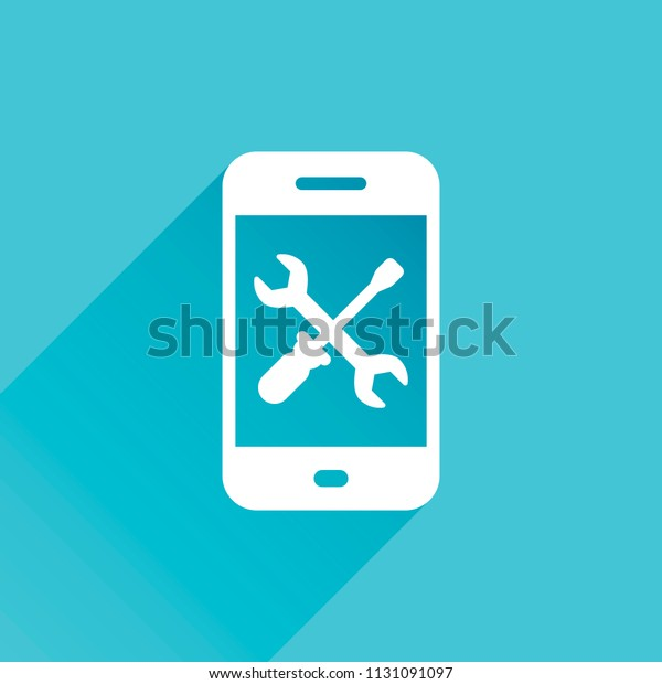 Phone Repair Service Icon Gray Icon Stock Vector (Royalty