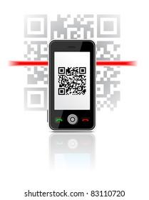 Phone scanned QR code