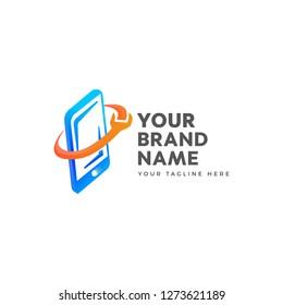 Logo Repair Phone Images, Stock Photos & Vectors | Shutterstock