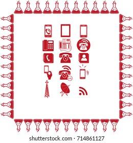 Phone set icons vector illustration